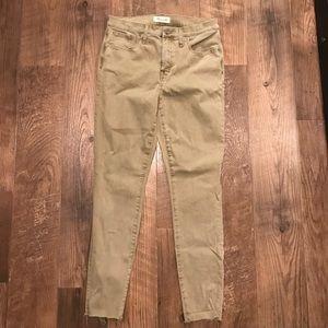 "Madewell 9"" High Rise Skinny Jeans, Raw Hem Sz 29"